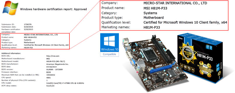 msi motherboard windows 10 compatibility