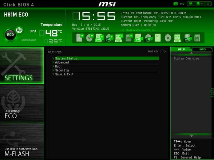 MSI H81 ECO BIOS UEFI (2)