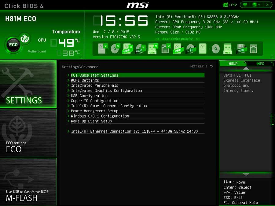 MSI H81 ECO BIOS UEFI (3)