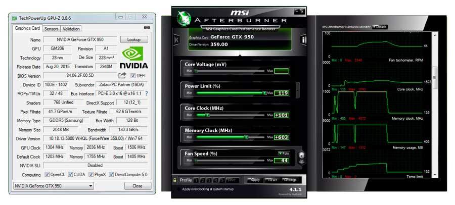 ZOTAC GTX 950 AMP! GPUZ (2)
