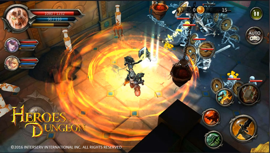 InterServ Heroes of the Dungeon Action RPG Mobile Game Begins Beta
