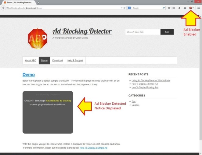 How to Display Alternate Content to AdBlock Users