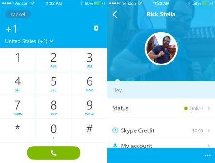 Skype App for Android and iOS Devices