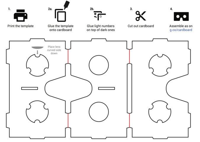 Google Cradboard - VR Headset DIY Printable Template
