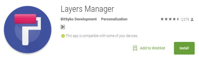 Install Layers App from PlayStore