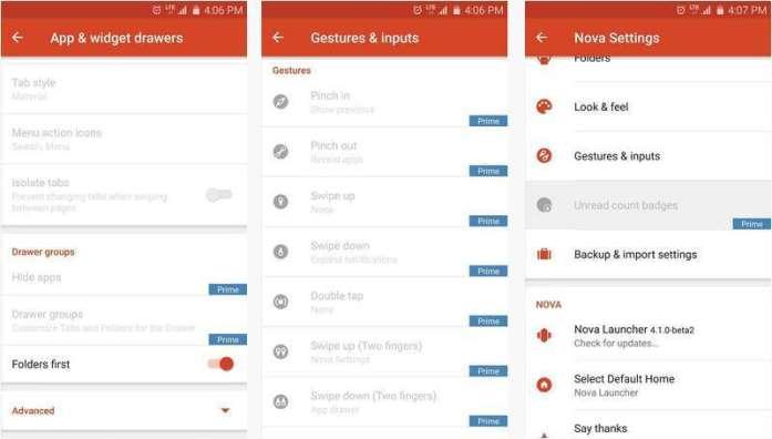 Nova Launcher Prime - Best Android Launcher