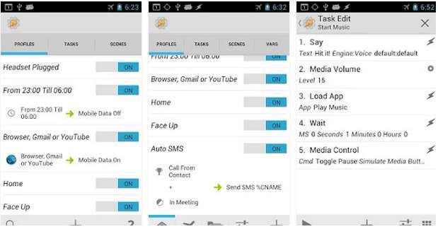 Tasker - An App that can do everything you imagine doing with your Android Phone