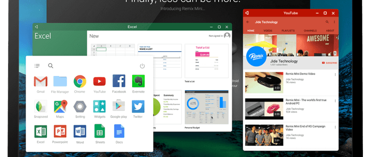 Android Lollipop based Remix OS for Desktop Windows PC
