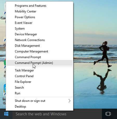 Run CMD via Start Menu