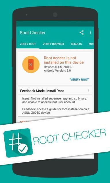 Checking Root using Root Checker App