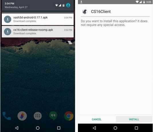Install Xash3D Game Engine and CS16 Client Game Launcher in Android Phone