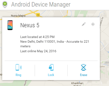 Ring Lock or Erase your Device Via Google's Android Device Manager