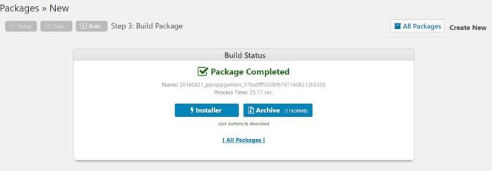 Download the Package and installer.php files