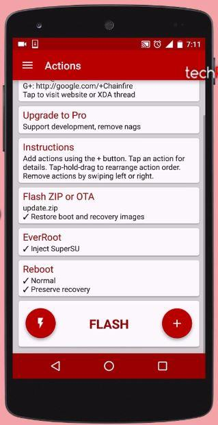 Finally Hit flash button to install OTA update successfully on Rooted Android