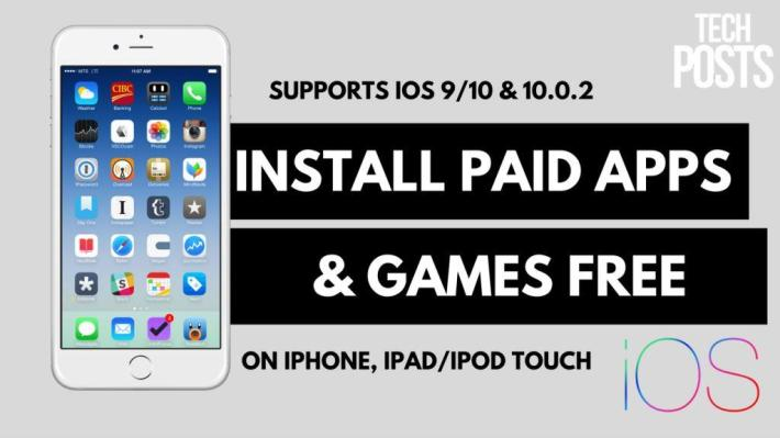 Install PAID or Hacked Apps FREE on iOS 9, 10, 10.0.2 NO Jailbreak iPhone, iPad, iPod Touch