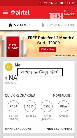 Claiming free 3GB 3G/4G Data on Airtel for 12 months