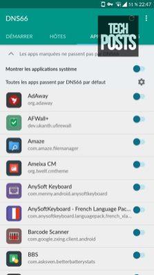 Apps in DNS66 Adblock Control