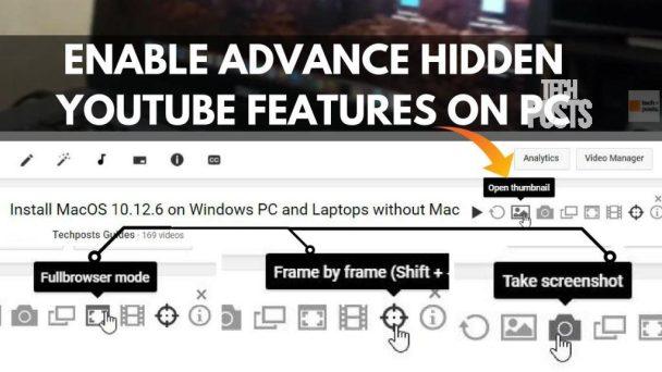 Enable Hidden YouTube features