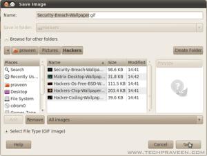 Select Top 5 Hackers wallpaper inGIMP