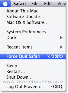 Force Quite Safari Browser