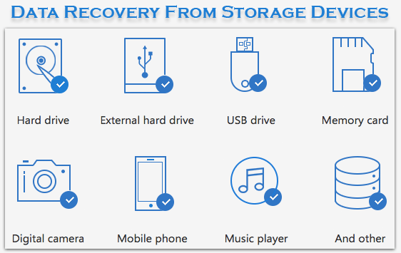 Recover Data from Storage Devices