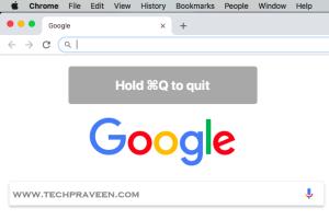 Quitting Google Chrome