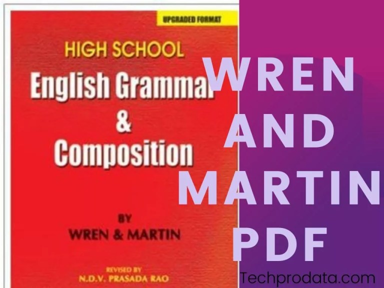 Wren And Martin English Grammar PDF