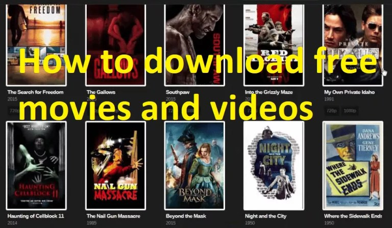 How to download free movies and videos