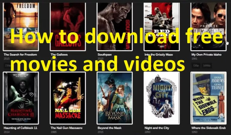 How to download free movies and videos?