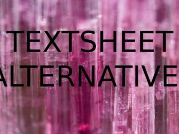 TEXTSHEET ALTERNATIVES