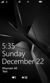 500px Windows Phone Screen