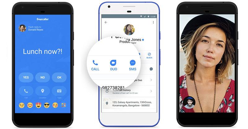 Truecaller integration with Google Duo