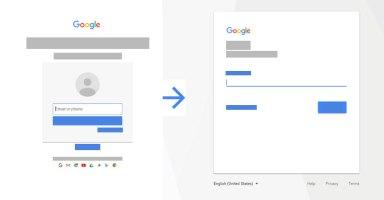 Google Sign-in UI 2017