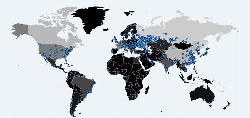 WannaCry Ransomware Map