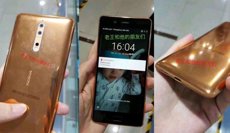 Nokia 8 Copper Gold