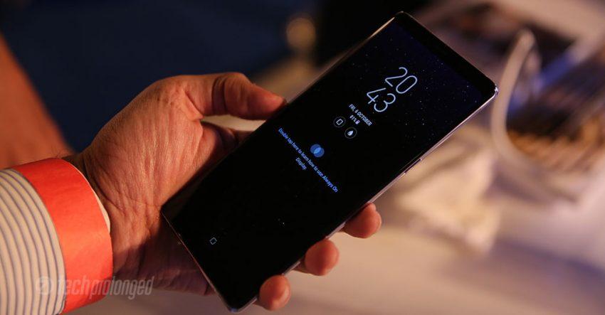 Samsung Galaxy Note 8 Always-on Display