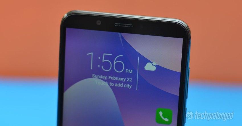 Huawei-Y7-Prime-2018-Review Top Bezel