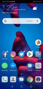 Huawei P20 Pro Home Screen