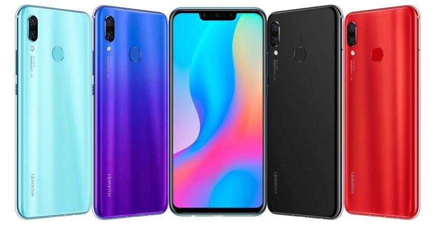 Huawei Nova 3 Feature Colors