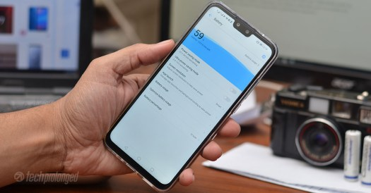Huawei Y9 2019 battery UI