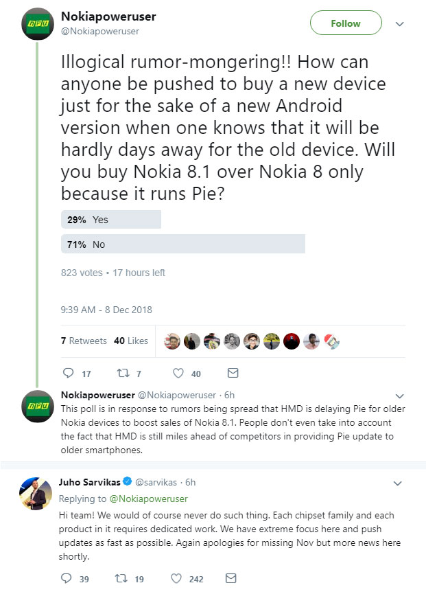 Nokia 8 Android 9