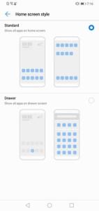 Huawei Y7 Prime 2019 App Drawer