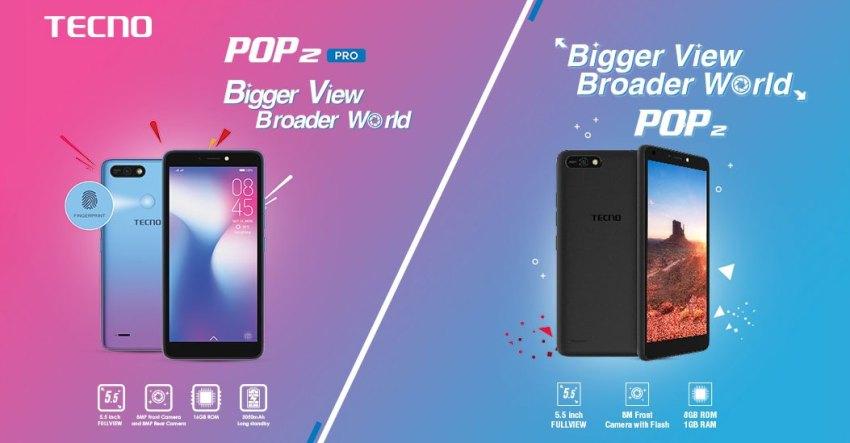 Tecno Pop 2 and Pop 2 Pro