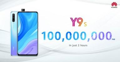 Huawei Y9s Sales Record