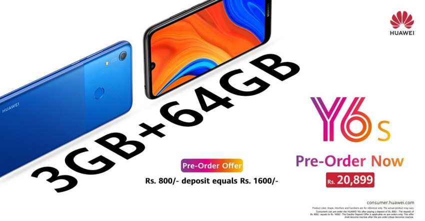 Huawei Y6s Pre Order Price Pakistan
