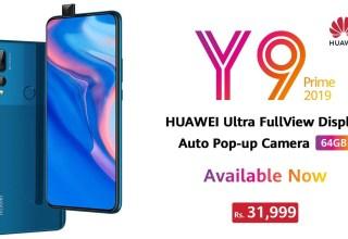Huawei Y9 Prime 2019 Price Pakistan