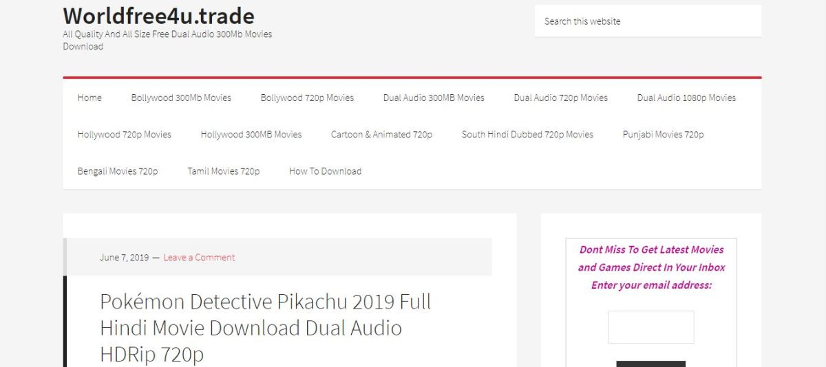 Worldfree4u Movie Download Site | Punjabi Movies & Dual