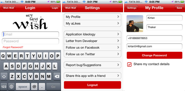 'My Last Wish' – A social Network App based on Death