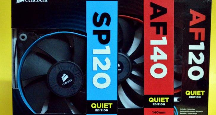 Corsair Air series AF120, AF140, SP120 Quiet Edition Fans
