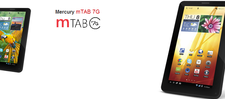 Mercury launches mTAB 7G – a 3G enabled tablet with SIM calling feature